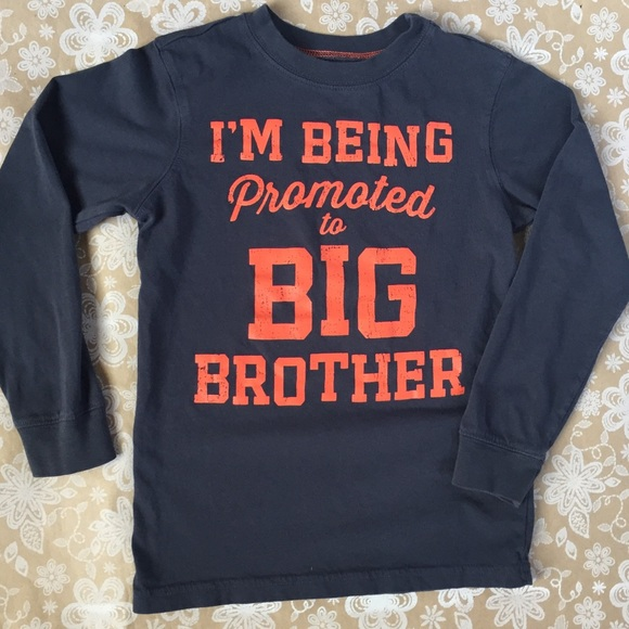 b59d30ecf9c0 Carter's Shirts & Tops | Carters Promoted To Big Brother Longsleeve ...